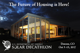 Learn more: Solar Decathlon Denver Oct 5 - 15